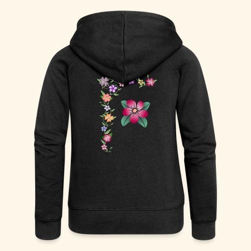 Blumenranke, Blumen, Blüten, floral, blumig, bunt - Frauen Premium Kapuzenjacke