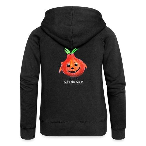 mens black T-shirt Ollie the Onion - Women's Premium Hooded Jacket