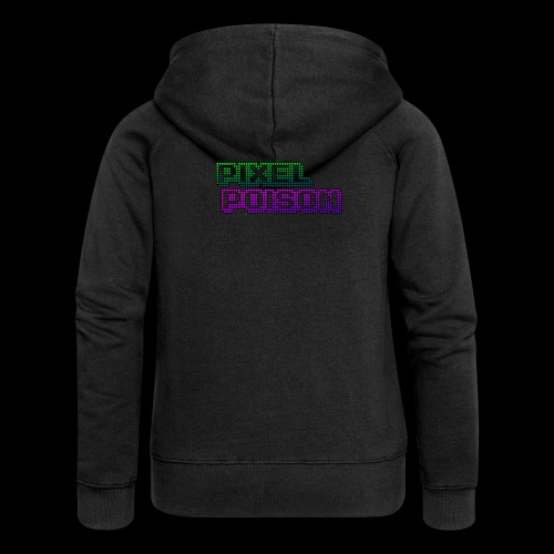 Pixel Poison Logo - Women's Premium Hooded Jacket