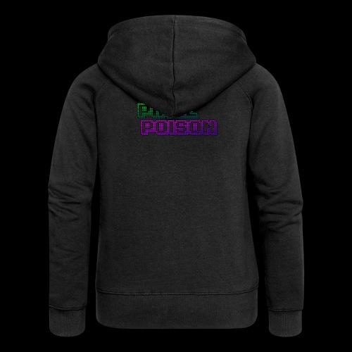 Pixel Poison Logo - Women's Premium Hooded Jacket