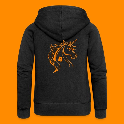 orange biodusty unicorn shirt - Vrouwenjack met capuchon Premium