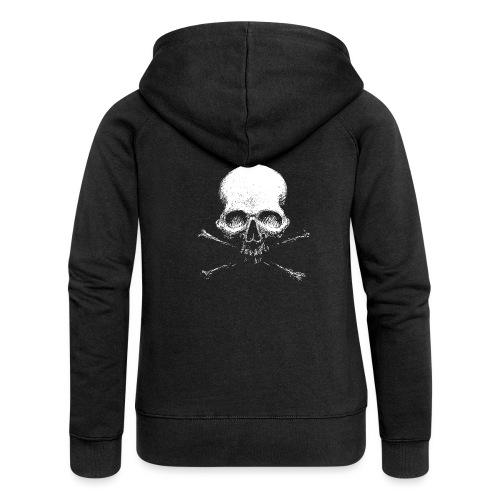 Old Skull - Felpa con zip premium da donna
