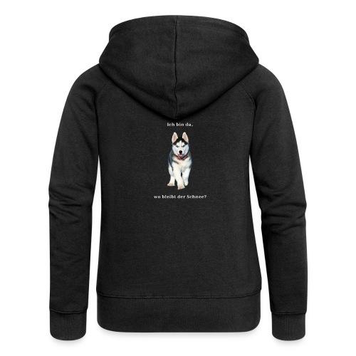 Husky Welpen mit bezaubernden Augen - Frauen Premium Kapuzenjacke