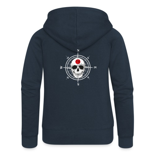 Skull Japanese - Women's Premium Hooded Jacket