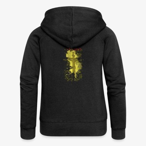 I believe / wierzę (yellow-żółty) - Rozpinana bluza damska z kapturem Premium