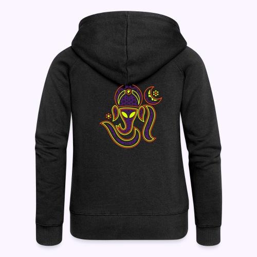 Aum Ganesha 3 Color - Women's Premium Hooded Jacket