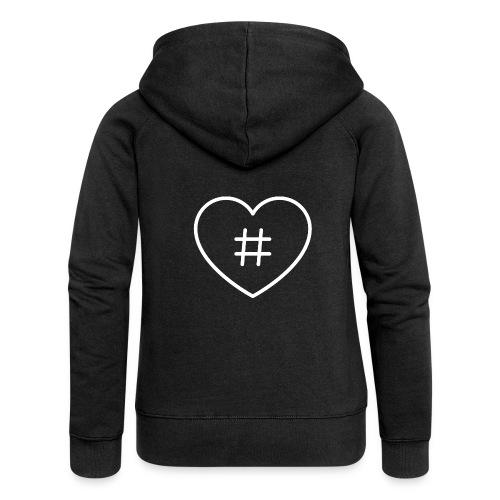 Hashtag Herz - Frauen Premium Kapuzenjacke