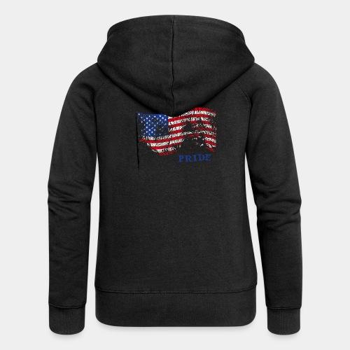 USA - Rozpinana bluza damska z kapturem Premium