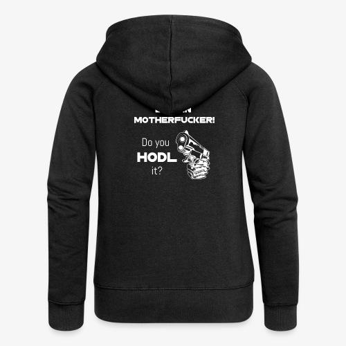 HODL-btcmofo-w - Women's Premium Hooded Jacket