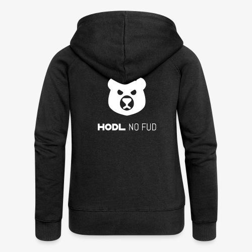 HODL-bearnofud-w - Women's Premium Hooded Jacket