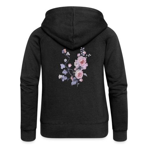 Schlichte Blumen - Frauen Premium Kapuzenjacke