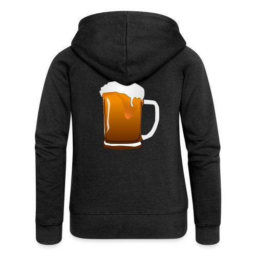 Cartoon Bier Geschenkidee Biermaß - Frauen Premium Kapuzenjacke