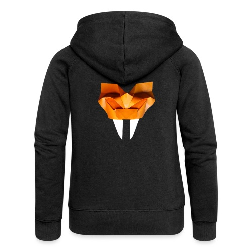 Origami Saber Toothed Tiger Mask - Origami Tiger - Women's Premium Hooded Jacket