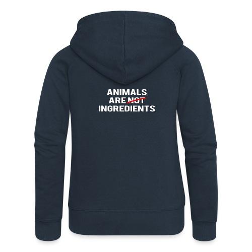 Animals Are Ingredients - Women's Premium Hooded Jacket