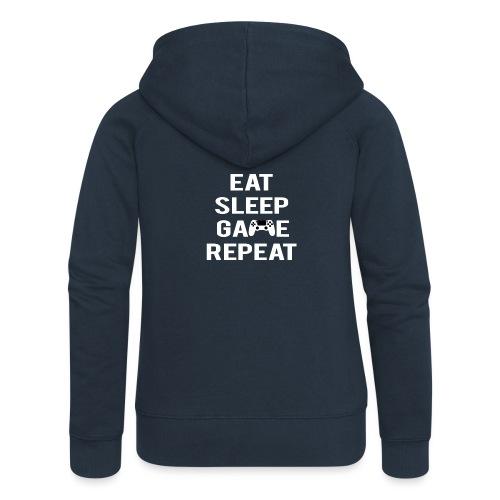 Eat, sleep, game, REPEAT - Women's Premium Hooded Jacket