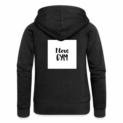 I love gym - Premium luvjacka dam
