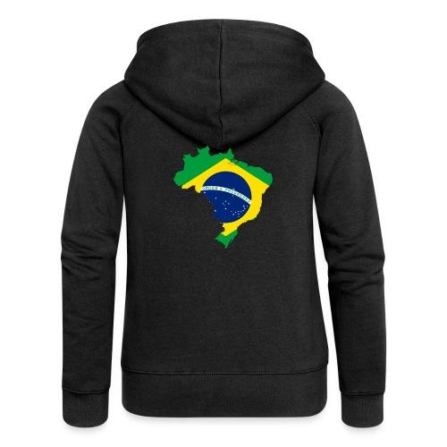 Encontro Ordem E Progresso Brasil - Women's Premium Hooded Jacket