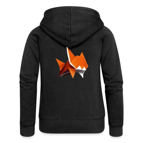Jumping Cat Origami - Cat - Gato - Katze - Gatto - Women's Premium Hooded Jacket