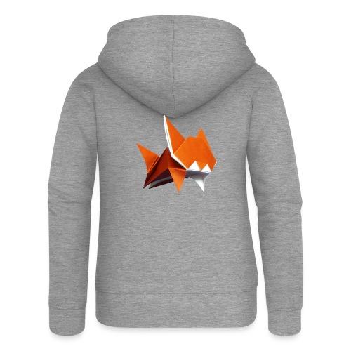 Jumping Cat Origami - Cat - Gato - Katze - Gatto - Women's Premium Hooded Jacket