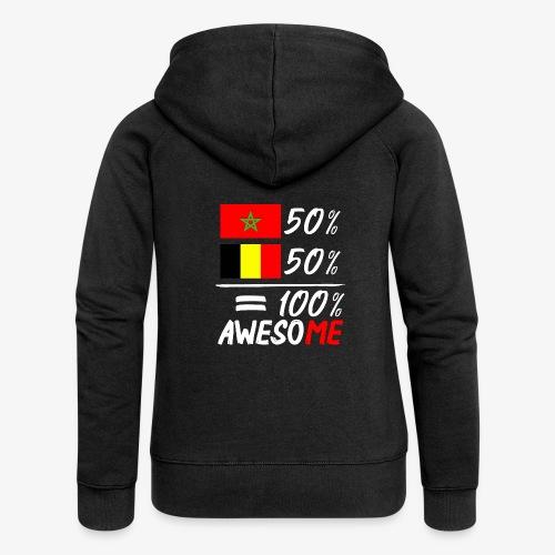 50%Marokko 50% Belgien - Frauen Premium Kapuzenjacke