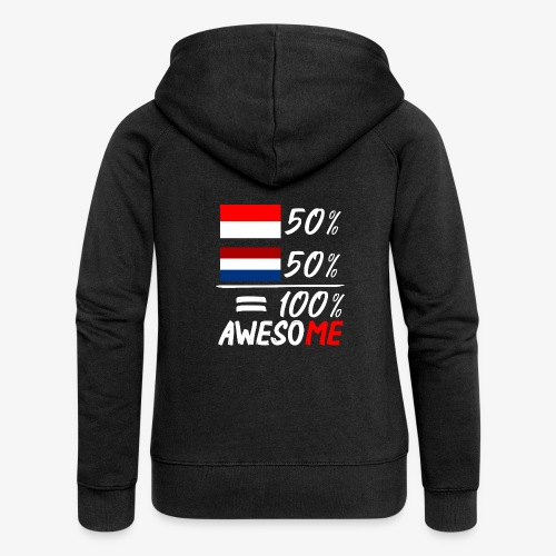 50% Nederland 50% Indonesië - Frauen Premium Kapuzenjacke