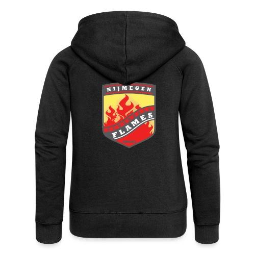 Hoodie Black - Red inner contrast - Vrouwenjack met capuchon Premium