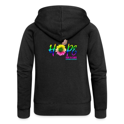 Hope For A Cure Alzheimer Awareness - Women's Premium Hooded Jacket