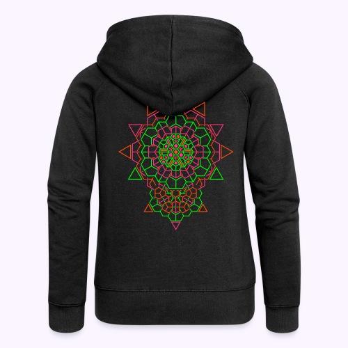 Cosmic Crystal Back - Women's Premium Hooded Jacket