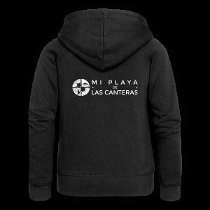 Mi playa de Las Canteras - Chaqueta con capucha premium mujer