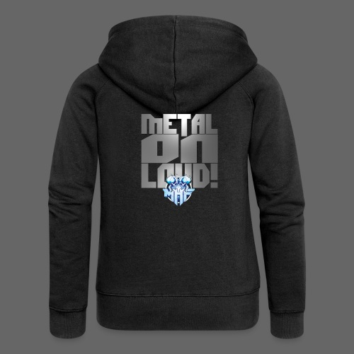 metalonloud large 4k png - Women's Premium Hooded Jacket
