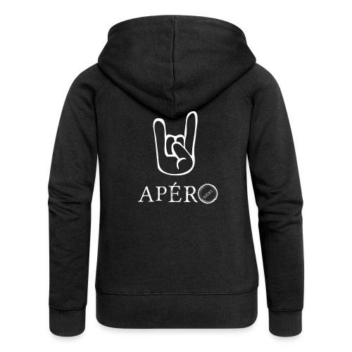 rock and apéro - Veste à capuche Premium Femme