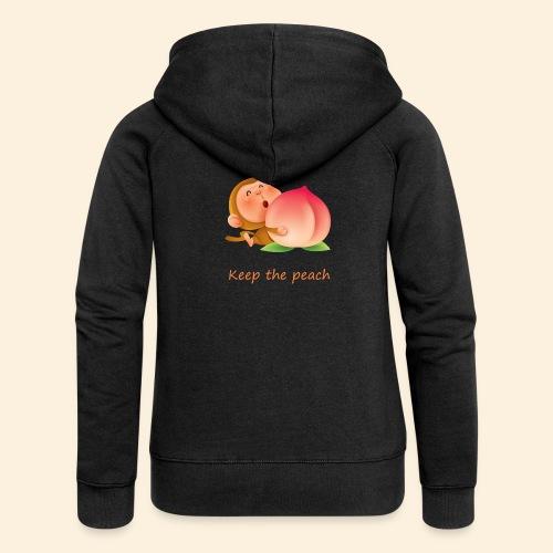 Monkey Keep the peach - Veste à capuche Premium Femme