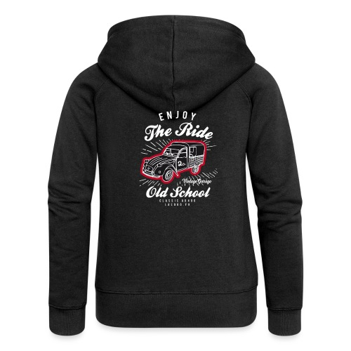 T-shirt Enjoy The Ride 2cv AK400 - Veste à capuche Premium Femme