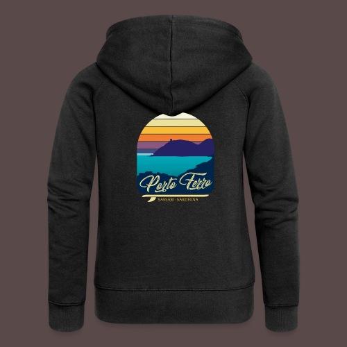 Porto Ferro - Vintage travel sunset - Felpa con zip premium da donna