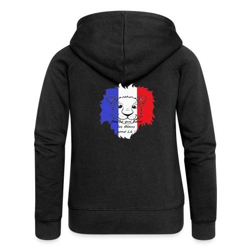 Lion supporter France - Veste à capuche Premium Femme