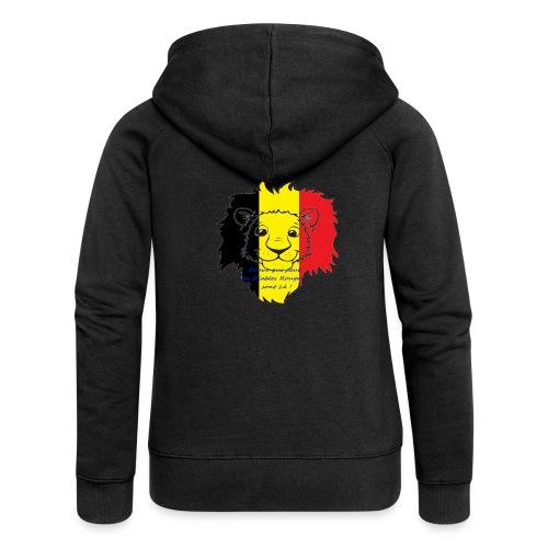 Lion supporter Belgique - Veste à capuche Premium Femme