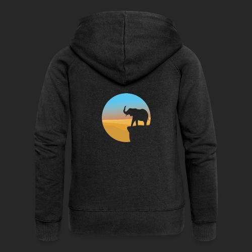 Sunset Elephant - Women's Premium Hooded Jacket