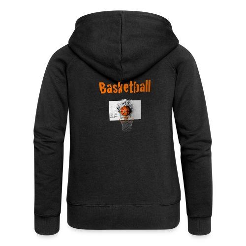 Money time BasketBall - Veste à capuche Premium Femme