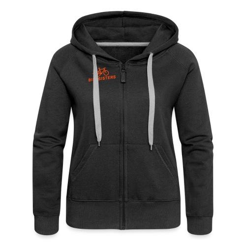 BIKESISTERS Logo orange - Frauen Premium Kapuzenjacke