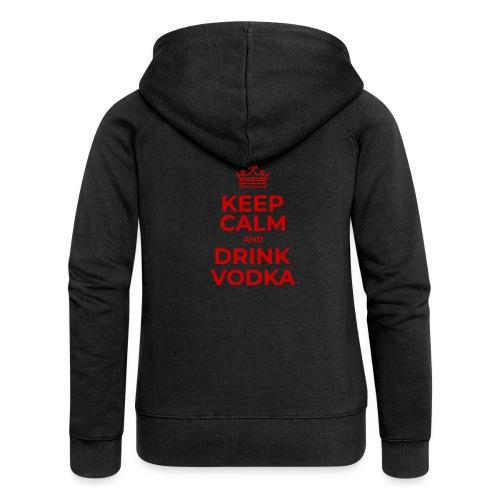 Keep calm and drink vodka (Rot) - Frauen Premium Kapuzenjacke