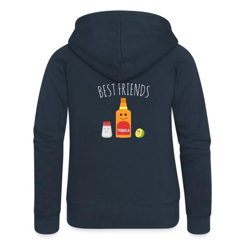 Best Friends - Tequila - Women's Premium Hooded Jacket