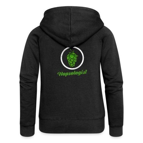 Hopsologist - Hops / Beer Fan - Women's Premium Hooded Jacket