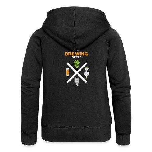 Brewing Steps - Brauer Gift Idea - Women's Premium Hooded Jacket
