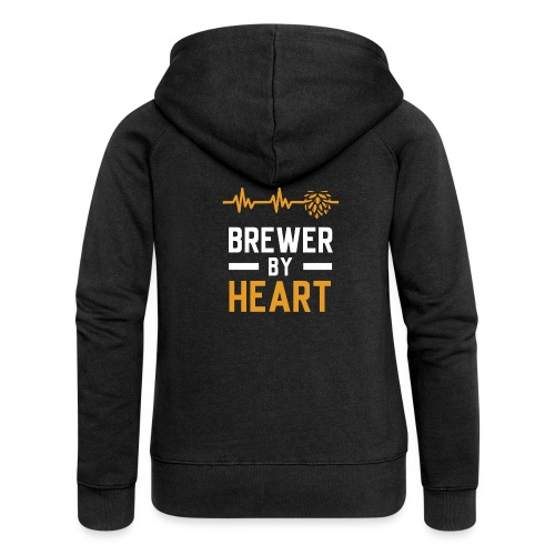 Brewer with heart - Women's Premium Hooded Jacket