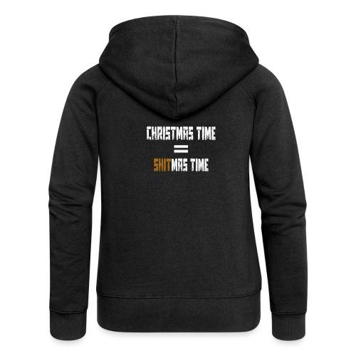 Foute Kerst Shitmas Time - Vrouwenjack met capuchon Premium