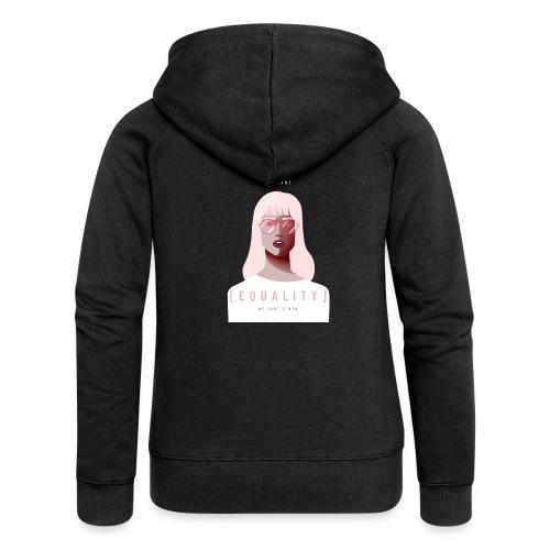 feminist t shirt design creator featuring - Chaqueta con capucha premium mujer