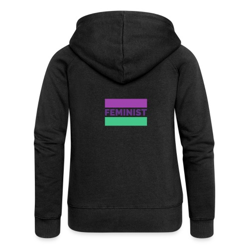 colorful t shirt maker with a feminist - Chaqueta con capucha premium mujer