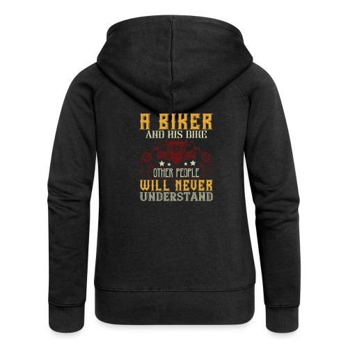 A biker and his bike. - Women's Premium Hooded Jacket