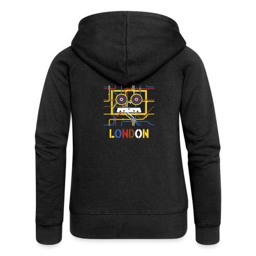 London Tube Map Underground - Frauen Premium Kapuzenjacke
