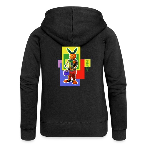 smARTkids - Slammin' Rabbit - Women's Premium Hooded Jacket